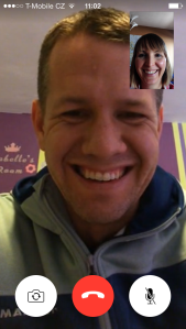 How Casey looks to me when he travels places. This is how he looks in Bulgaria :). We love Face Time!